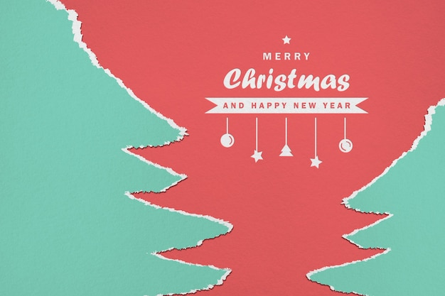 Maquette de papier joyeux noël et bonne année
