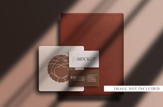 Maquette de papier de luxe et de carte de visite