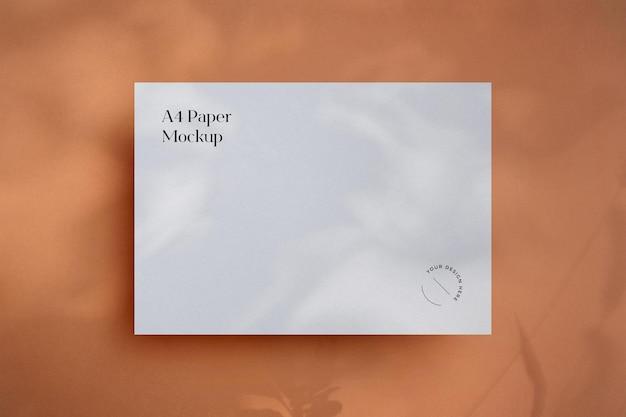 Maquette de papier minimaliste avec ombre overla
