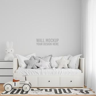 Maquette de papier peint intérieur pour chambre d'enfants