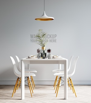Maquette de papier peint de salle à manger intérieure