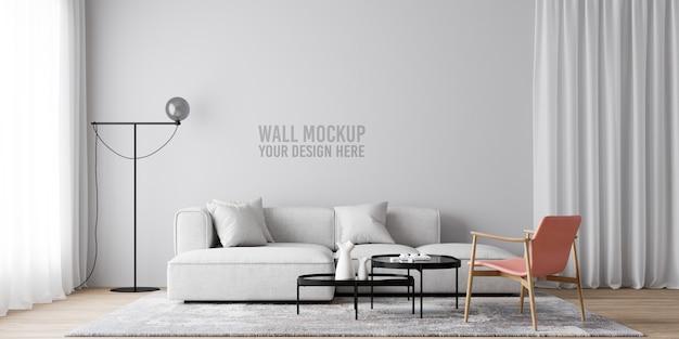Maquette de papier peint de salon intérieur