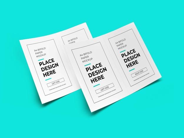 Maquette de papier pour brochure pliante