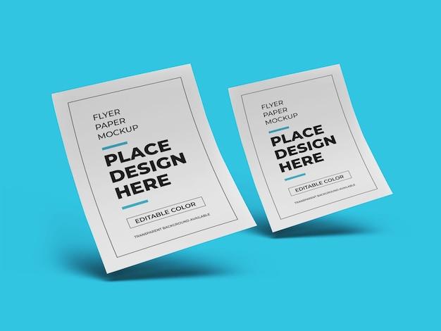 Maquette de papier pour flyer