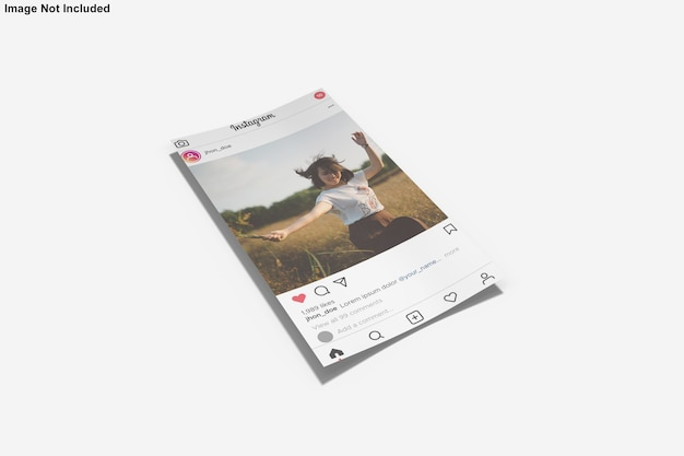 Maquette en papier pour la publication instagram