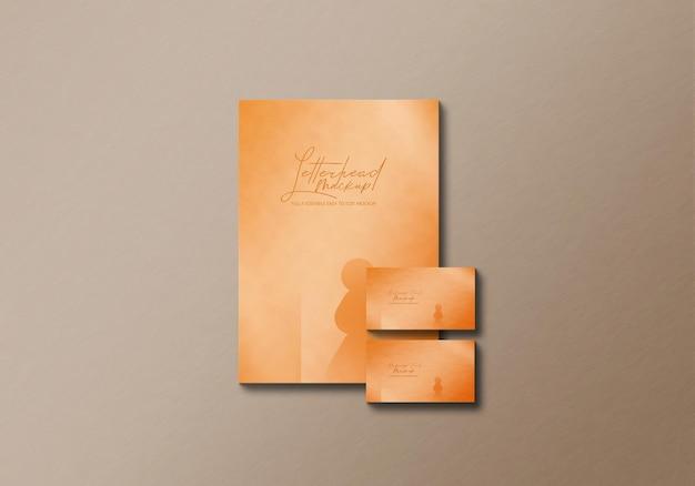 Maquette de papier à en-tête et carte de visite