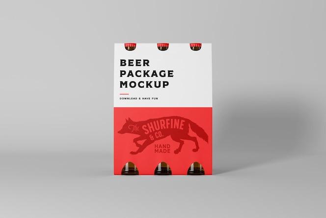 Maquette de paquet de bière