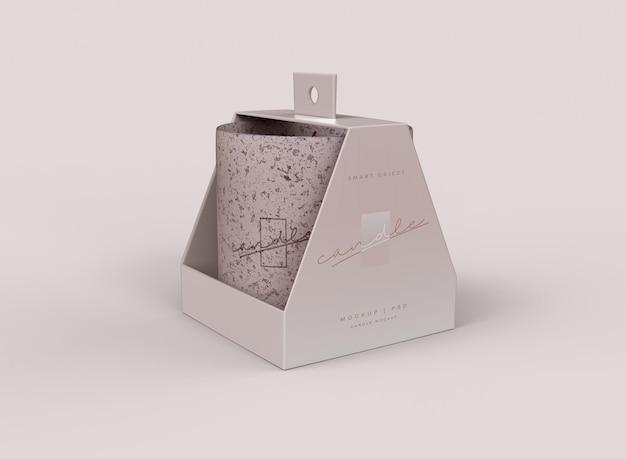 Maquette de paquet de bougie