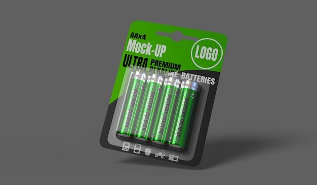 Maquette de paquet cellulaire de batterie rendu 3d