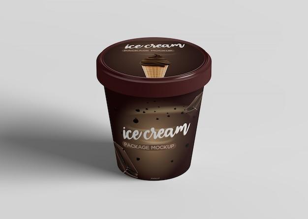 Maquette de paquet de crème glacée
