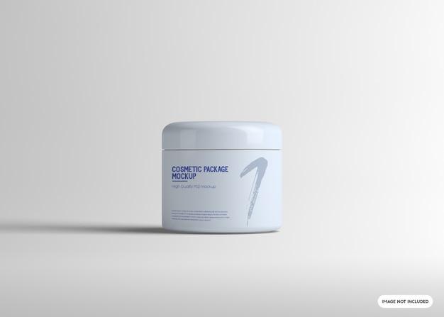 Maquette de paquet de crème