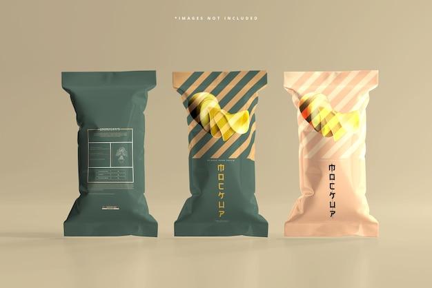 Maquette de paquet de nourriture en aluminium