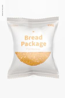 Maquette de paquet de pain, vue de face
