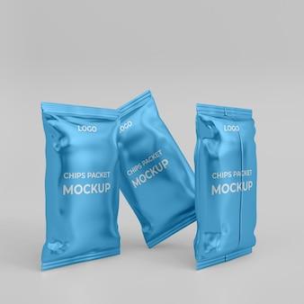 Maquette de paquet de puces 3d