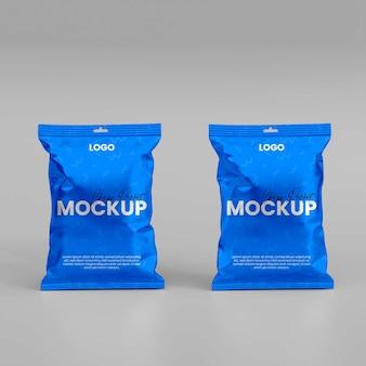 Maquette de paquet de puces réalistes 3d