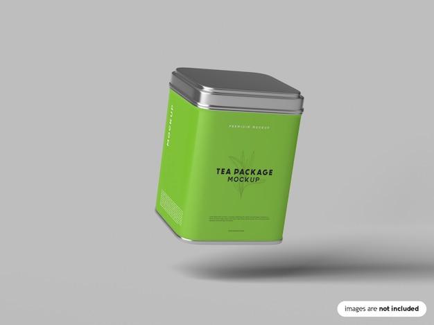 Maquette de paquet de thé