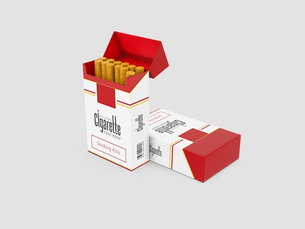 Maquette de paquets de cigarettes