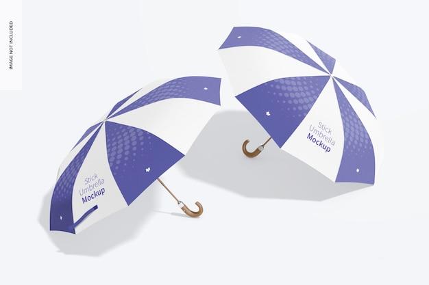Maquette de parapluies en bâton