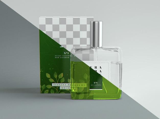 Maquette de parfum et d'emballage