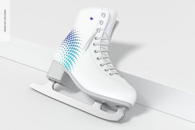 Maquette de patin à glace, penchée