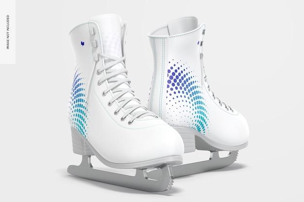 Maquette de patins à glace, vue de gauche