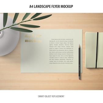 Maquette de paysage a4