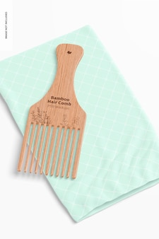 Maquette de peigne à cheveux en bambou