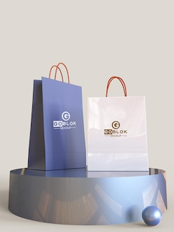 Maquette de petit sac en papier