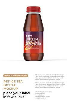 Maquette de petite bouteille de thé glacé