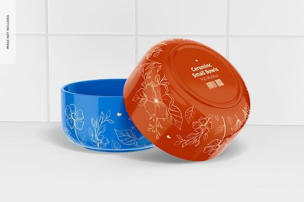 Maquette de petits bols en céramique, vue arrière