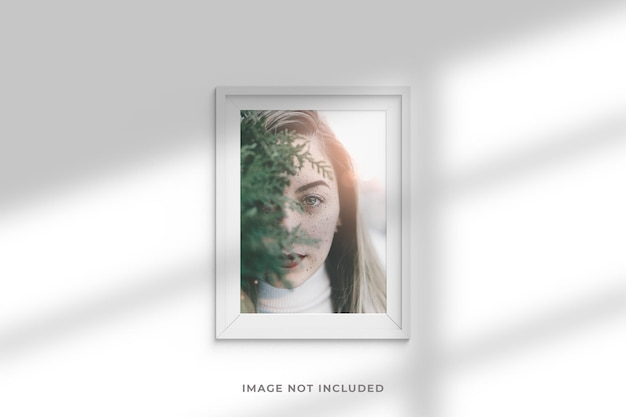 Maquette de photo de cadre minimaliste et élégante