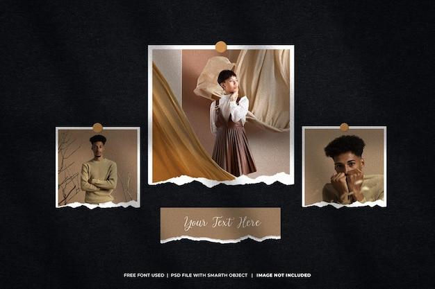 Maquette photo polaroid moodboard
