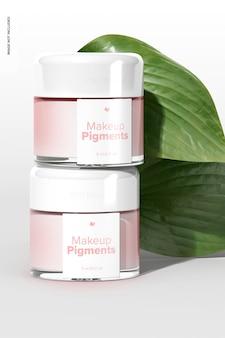 Maquette de pigments de maquillage