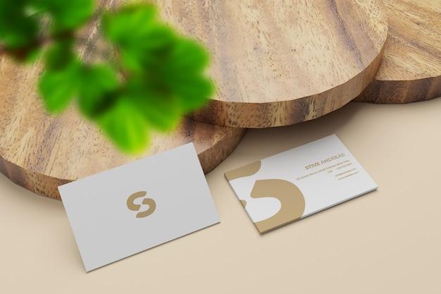Maquette de pile de cartes de visite élégante et minimale