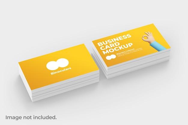 Maquette de pile de cartes de visite moderne et propre