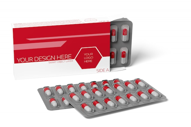 Maquette de pilulier médical