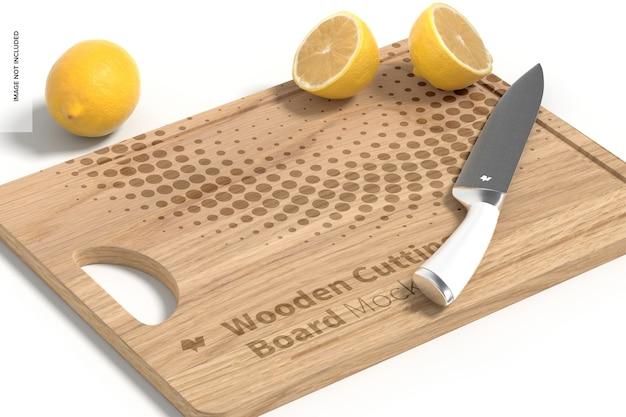 Maquette de planche à découper en bois, perspective