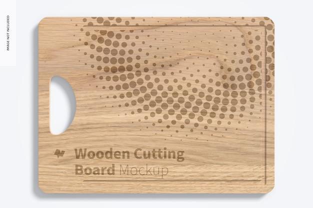 Maquette de planche à découper en bois, vue de dessus