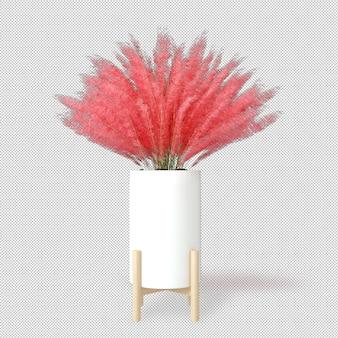 Maquette de plantes de rendu 3d en pot