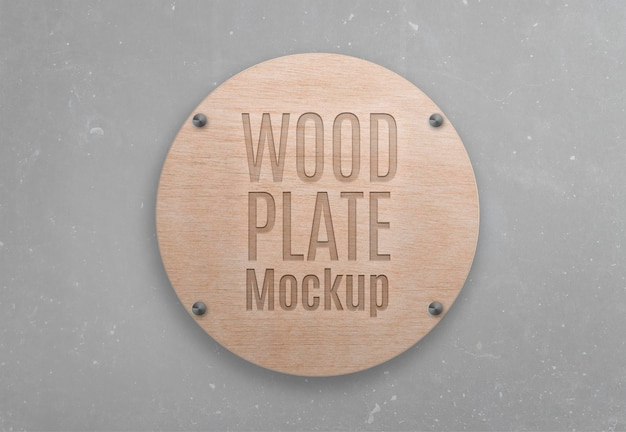 Maquette de plaque en bois