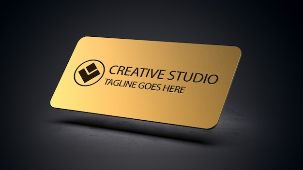 Maquette de plaque de logo réaliste