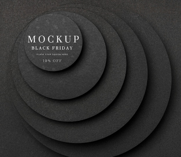 Maquette à plat le vendredi noir couches d'escaliers circulaires