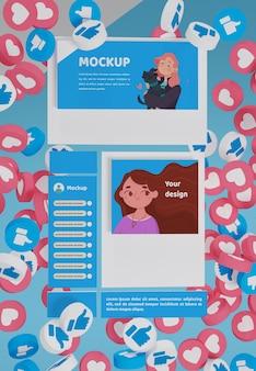 Maquette de plate-forme de médias sociaux