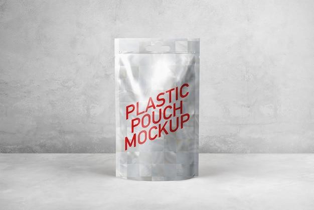 Maquette de pochette en plastique