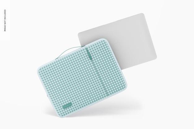 Maquette de pochette pour ordinateur portable, penchée