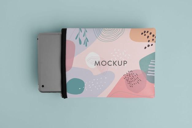 Maquette de pochette pour ordinateur portable et tablette en toile
