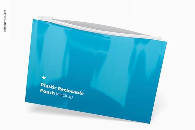 Maquette de pochette refermable en plastique