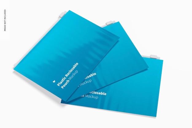 Maquette de pochettes refermables en plastique