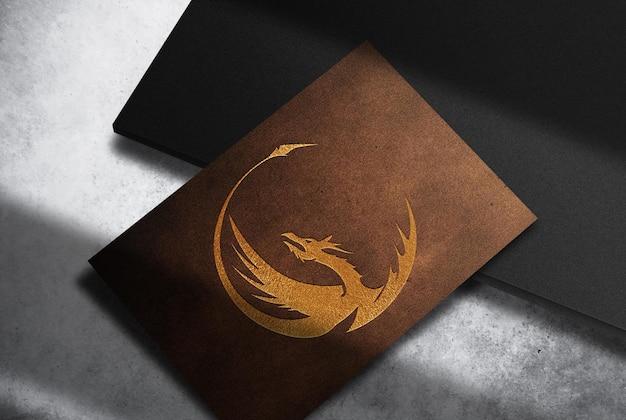 Maquette de poivre unique en cuir de luxe en relief