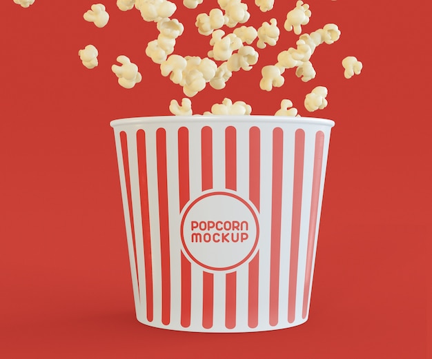 Maquette de pop-corn de cinéma